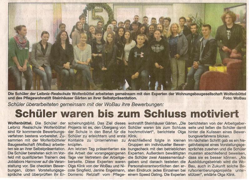 Berufsorientierung An Der Leibniz Realschule Wolfenbüttel